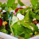 Salade vinaigrette aux framboises